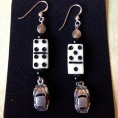 VW Earrings  Charm Style with Mini Domino by happytrailsmichelle, $16.00