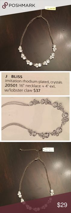 """NWT """"Bliss"""" 16"""" crystal necklace - Premier Designs NWT """"Bliss"""" 16"""" imitation rhodium plated, crystal necklace with 4"""" extender and lobster claw clasp from Premier Designs. Would make a stunning wedding or prom necklace - or wear whenever you just want to add a little sparkle to your day! Premier Designs Jewelry Necklaces"""