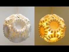 Swirl pendant lamp - how to make a spiral paper lampshade/lantern - EzyCraft - YouTube