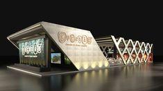 Stand Yucatan / TT 2016 on Behance Mall Design, Kiosk Design, Showroom Design, Facade Design, House Design, Factory Architecture, Facade Architecture, Concept Architecture, Restaurant Exterior Design