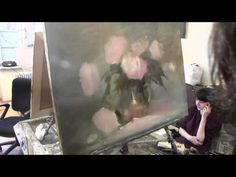 Научиться рисовать букет роз, цветы, натюрморт , уроки в Москве, Сахаров - YouTube