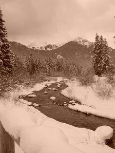 Dolomiti - Campitello Val di Fassa il torrente