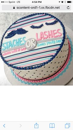 Staches or Lashes Cake