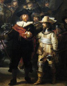 Rembrandt, detail van de zo genoemde Nachtwacht. Voor iedereen die wil weten waar dit meesterwerk ontstond en waar het in Rembrandts tijd hing, is er het Rondje Rembrandt van Kukullus.