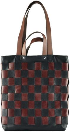 Kiko Leather Checkered Leather Tote #ad#leatherbag