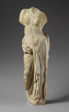 Marble statue of Aphrodite Period: Hellenistic Date: 2nd century B.C. Culture: Greek