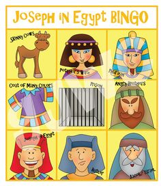 JOSEPH in Egypt BINGO - Downloadable PDF Only