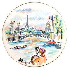 Gien Joli Paris cake platter