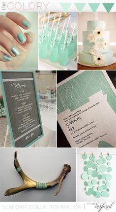 Seafoam wedding inspiration by helene