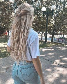 Box Braids Hairstyles, Quick Hairstyles, Down Hairstyles, Wedding Hairstyles, Country Hairstyles, Hair Extension Hairstyles, Hairstyles With Extensions, High School Hairstyles, Baddie Hairstyles