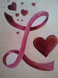 """""""L is for Love"""" another Initial piece  Nests...by Robin: Personalized Children's Paintings"""