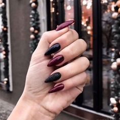 33 Gorgeous fall nail art design Ideas that perfect for any occasion - autumn na. - 33 Gorgeous fall nail art design Ideas that perfect for any occasion – autumn nails - Fall Nail Art Designs, Acrylic Nail Designs, Dark Nail Designs, Nail Manicure, Toe Nails, Coffin Nails, Black And Purple Nails, Black Nails, Black Manicure