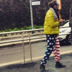 #starsandstripes #outfit #weird #usa #flag #trousers