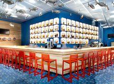 Contemporary restaurant bar interior design