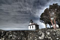 Color, lighthouse and vast sky, Pacific Northwest, Friday Harbor, WA