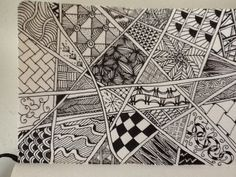 our Education Development Consulatant can get a little obsessed with zentangle doodling from time to time Education And Development, Zen Doodle, Journalling, Zentangles, Art Sketches, Print Design, Art Ideas, Doodles, Quilts