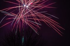 Firework in Red