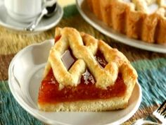 A jam dessert Greek Sweets, Greek Desserts, Cookie Desserts, Greek Recipes, Wine Recipes, Dessert Recipes, Sweet Pie, Sweet Tarts, Greek Cake
