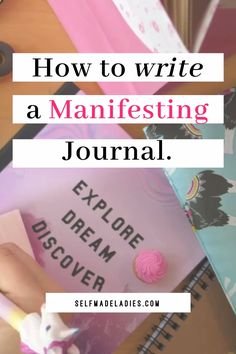 Why You Need A Manifesting Journal Manifesting goals by writing them down, with a manifesting journa Manifestation Journal, Manifestation Law Of Attraction, Law Of Attraction Affirmations, Law Of Attraction Planner, Secret Law Of Attraction, Law Of Attraction Quotes, Personal Development, Self Development, Journal Writing Prompts
