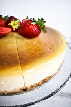Slice up this creamy dairy free cheesecake quickly, because everyone will want some!