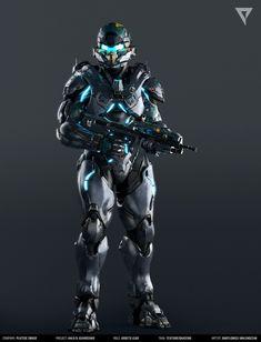 "Spartan Locke / Textures, Bartłomiej ""Valery"" Walendziak on ArtStation Halo Game, Halo 5, Cyberpunk, Armor Concept, Concept Art, Halo Armor, Halo Series, Futuristic Armour, Sci Fi Armor"