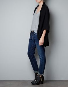 want (perfect for the freezing studio): WRAPAROUND CARDIGAN - Knitwear - Woman - ZARA Canada
