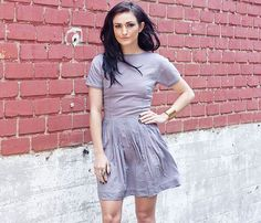 Grey Pleated Doll Dress