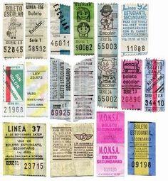 Antiguos boletos de colectivos, de Buenos Aires.