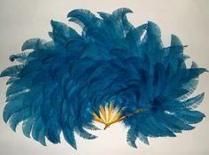 Eventail de plumes Feathers fan nandou. France, circa 1920
