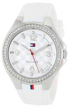 "Amazon.com: Tommy Hilfiger Women's 1781371 ""Sport Luxury"" Swarovski Crystal-Accented Stainless Steel Watch: Tommy Hilfiger: Clothing"