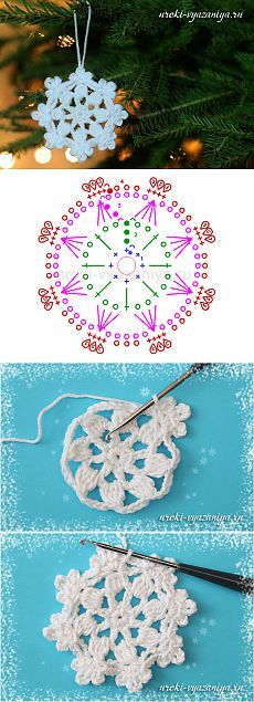 Snowflake hook, master class for beginners | Crochet