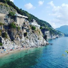 """La torretta"" beach in #Cetara, #Amalficoast #Italy"