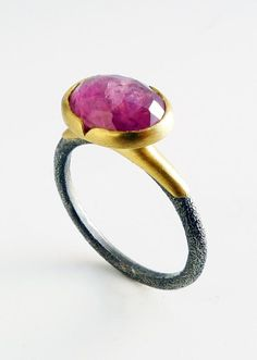 This rose-cut pink sapphire is certainly swoon-worthy. #etsyjewelry❤≻⊰✿⊱≺❤