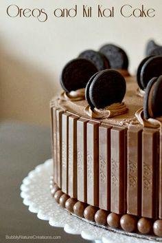 Mil idéias para bolos de Kit Kat