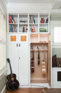 Guitar storage …