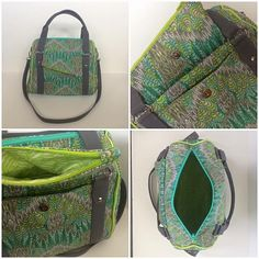 Rockstar Bag in Tula Pink Fox Field fabric.  Pattern by Sew Sweetness.