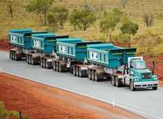 """Toll Powertrain"" Iron Ore Road Train in Western Australia. Big Rig Trucks, Toy Trucks, Semi Trucks, Train Truck, Road Train, Mack Attack, Armored Truck, Iron Ore, Semi Trailer"