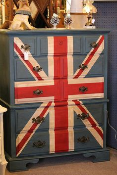 Wow!!!  LOVE LOVE LOVE this!  Union Jack Dresser by LaVantteHome on Etsy, $510.00