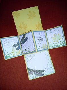Twist Pop Up Card - Stampin Up Dragonfly Dreams & SAB Avant Garden