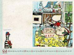 Desktop Wallpaper Calendar FEBRUARY 2015 #art #wallpaper #Calendar
