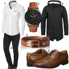 Business-Outfit mit weißem Hemd und schwarzer Jeans (m0966) #fossil #blend #jacke #armbanduhr #outfit #style #herrenmode #männermode #fashion #menswear #herren #männer #mode #menstyle #mensfashion #menswear #inspiration #cloth #ootd #herrenoutfit #männeroutfit