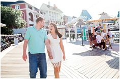 Orlando Engagement Session At Disney's Board walk Resort & Epcot Park.