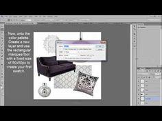 Create a Digital Mood Board in Photoshop - Tutorial | by Viva la Violette | www.vivalaviolette.com