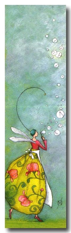 A Fairy BLowing Bubbles. by Gaelle Boissonard I like the bubbles...I want a little boy blowing bubbles for Emmett's room :)