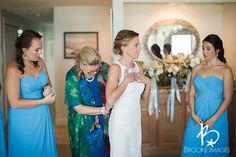 Our bride Mary on her big day!  Photo collection by Brooke Images. #keyholeback #lacegown