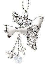 Car Charm - Blessings Birds - Faith Brings Miracles [EA13216_faith] - $6.99 - Drive Time - Car Charms, Visor clips for your car