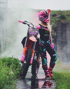 motocross supercross enduro dirtbikes offroad harley gear motorcycle supermoto y. Motocross Girls, Motocross Gear, Girl Dirtbike, Motorcross Bike, Motorbike Girl, Dirt Bike Girl, Pink Dirt Bike, Girl Bike, Lady Biker