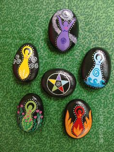 5 Elemental Goddess Stones plus Elemental by TheSimplifiedWitch, $24.00