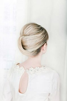 Tucked In Chignon Wedding Hairstyle