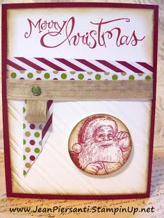 Christmas Card | Candy Dots & Brads | Beauty and the Stamper - Jean Piersanti - Independent Stampin' Up! Demonstrator